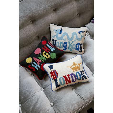 kong pillow hong kong needlepoint throw pillow throw pillows