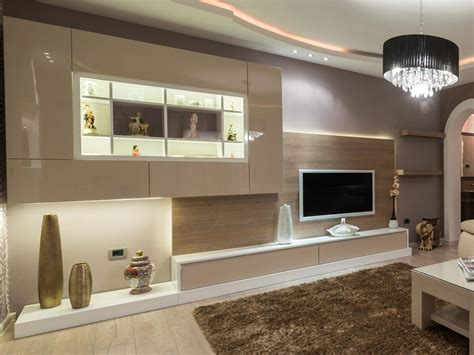 wall units interesting built in tv units built in wall modern family room great home design