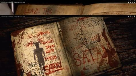 evil dead center a mystery books real page from the evil dead 2013 naturom demonto