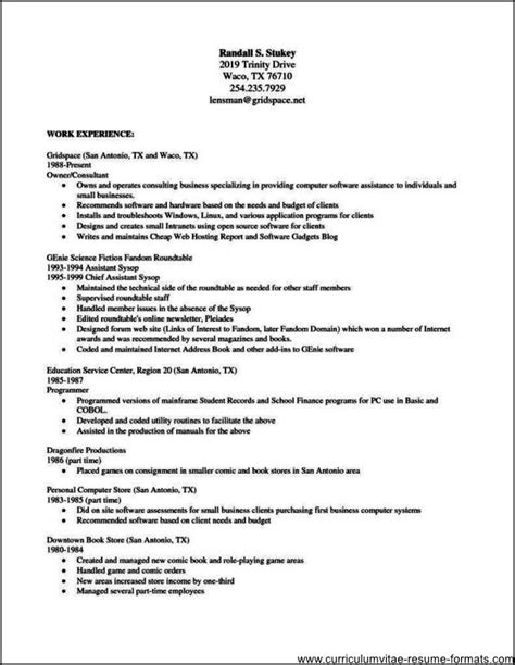download free resume templates for openoffice free