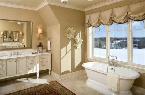winter bathroom decor stunning winter views enjoyed from the bathtub