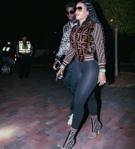 Who Wore It Better Fendi Fur Coat by Keyshia Kept It Simple Teaming Bomber With
