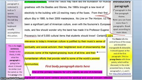 theme thesis exles writing the five paragraph theme thesis statement youtube