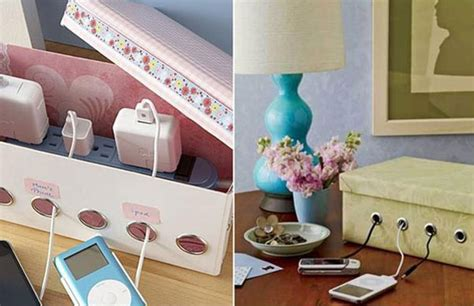 How To Charge For Interior Decorating by Charging Station From A Shoebox And Powerstrip Amazing