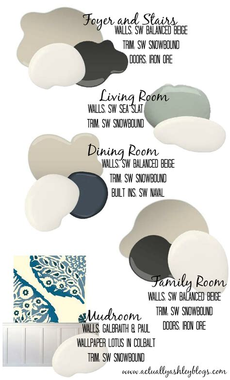 whole house color palette home decor archives actually ashley