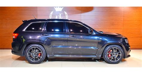 gray jeep grand srt jeep grand srt for sale aed 95 000 grey silver