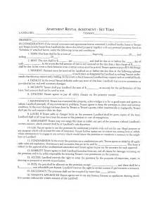 free apartment lease agreement template best photos of standard apartment lease agreement