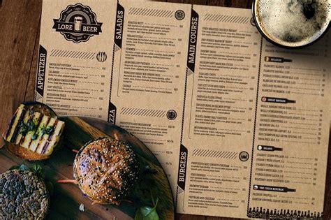 design menu a3 30 best food drink menu templates design shack