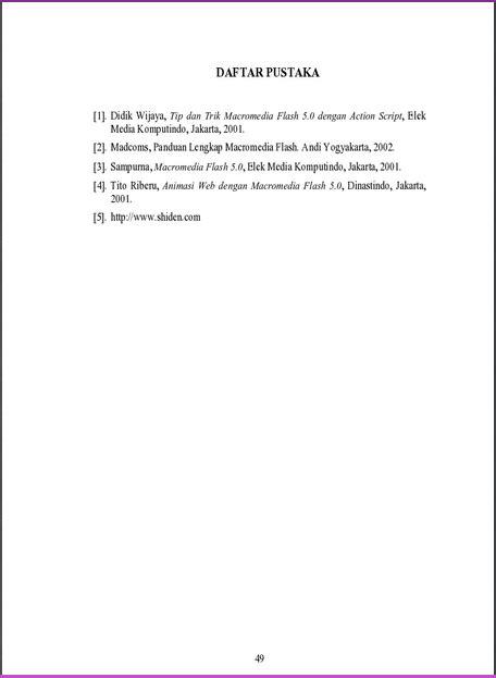 bagaimana format penulisan html yang benar abstrak daftar pustaka noname zone