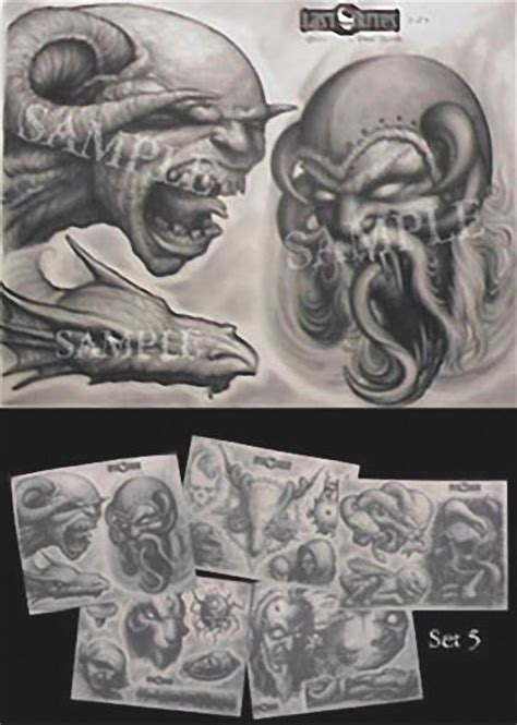 last rites tattoo paul booth flash set 5 last rites merchandise