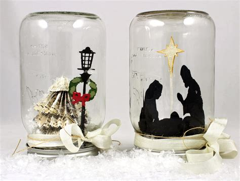 mason jar paper snow globes pazzles craft room