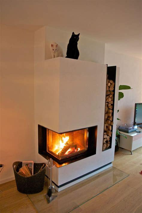 fireplace storage modern corner wood burning fireplace with firewood storage