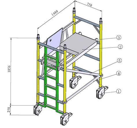 aluminium mobile scaffolding china aluminium mobile scaffold wpk701 china scaffold