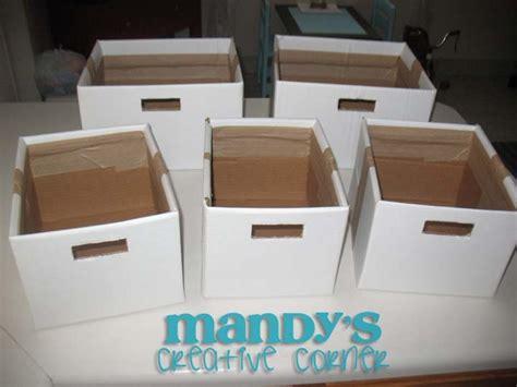 diy storage box diy cardboard storage boxes repurposed pinterest