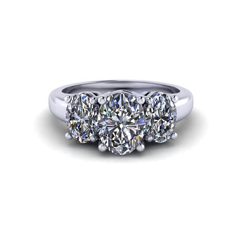 Wedding Rings Oval by Three Oval Engagement Ring Jewelry Designs