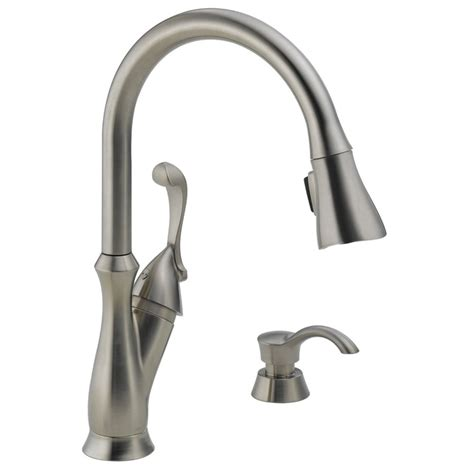 Pictures Of Kitchen Faucets Delta 19950 Sssd Dst Arabella Faucet With Soap Dispenser