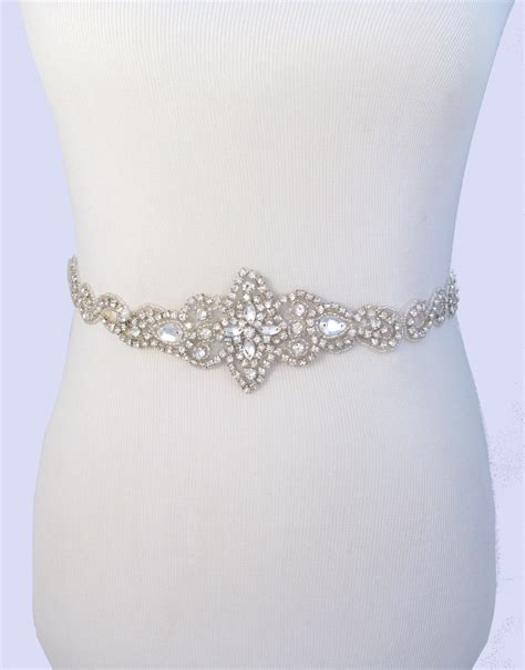 bridal belt rhinestone wedding dress by