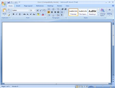 Microsoft Office Word 2007 converting an existing document document convert