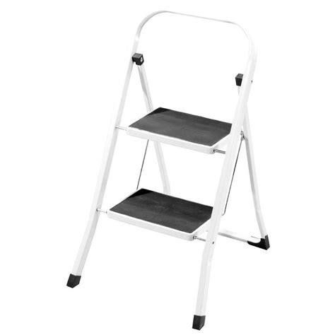 heavy duty folding 2 step stool 2 step ladder safety non slip mat heavy duty steel folding