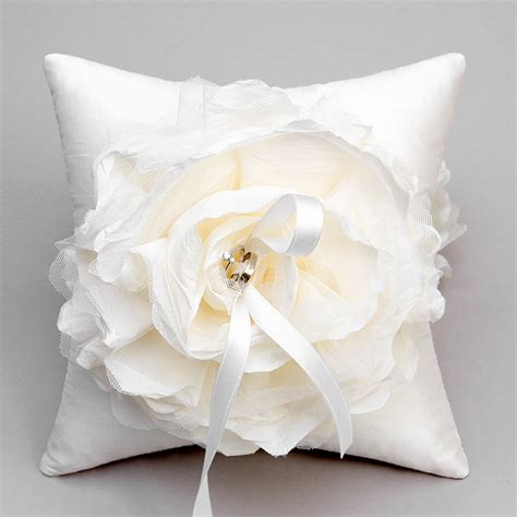 Ring Pillow by Ivory Flower Ring Pillow Wedding Ring Bearer Pillow Bridal