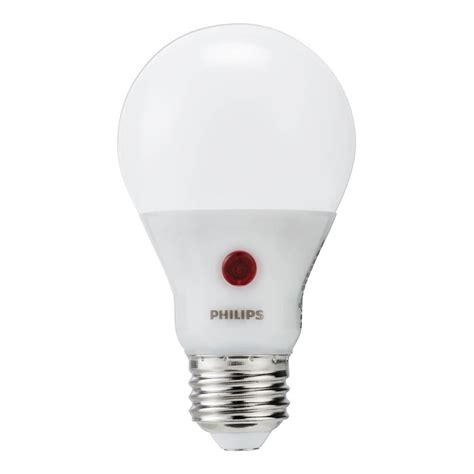 Philip Led Light Bulbs Philips 60 Watt Equivalent A19 Led Light Bulb Soft White Dusk Till 4 Pack 466565 The