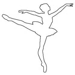 Ballerina Template outline of a ballerina coloring pages