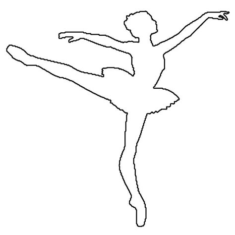 Dancer Outline by Outline Of A Ballerina Coloring Pages