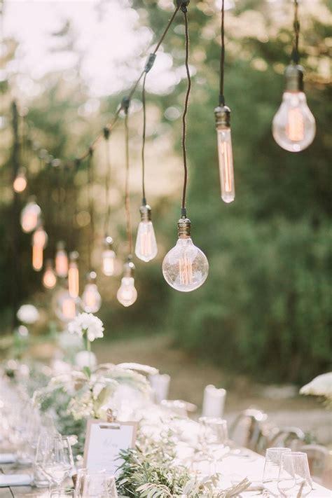 brilliant wedding ideas   edison bulbs
