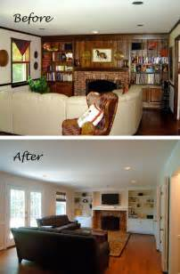 whitewash wood paneling before amp after two living rooms transformed with color