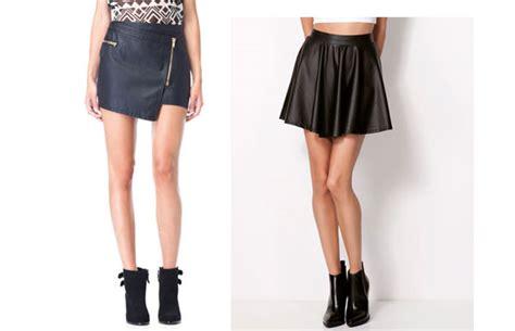 faldas de cuero con vuelo falda de cuero corta