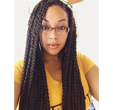 pictures of a black women with med cornrows into a senegalese twist ball 12 artistic medium box braids women love hairstylec