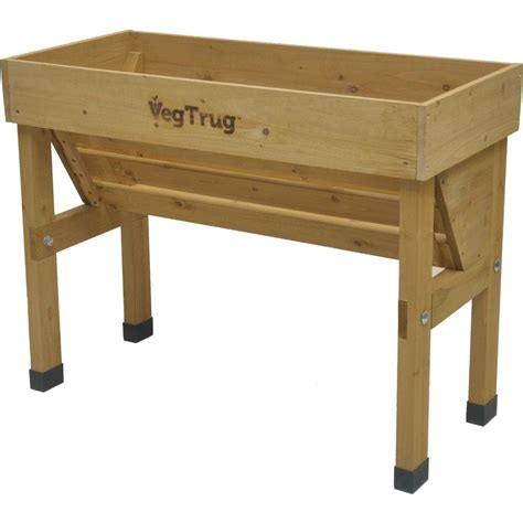 Living Room Furniture Ideas For Small Spaces Vegtrug Wall Hugger 40 In W X 30 In H Wooden Raised Bed