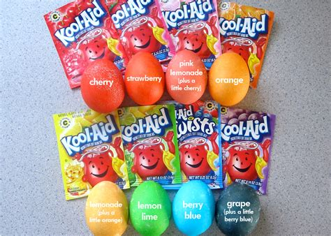 coloring eggs with kool aid kool eggs prismatic pastimes
