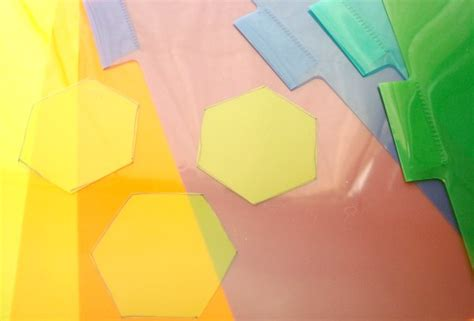 how to make your own plastic hexagon template