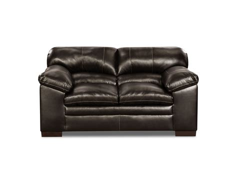 faux leather loveseat simmons dylan faux leather loveseat bingo brown