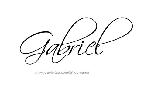 gabriel angel name tattoo designs