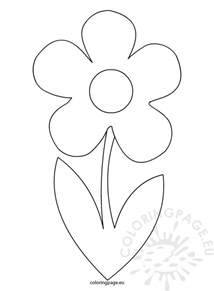 flower template flower with stem template coloring page