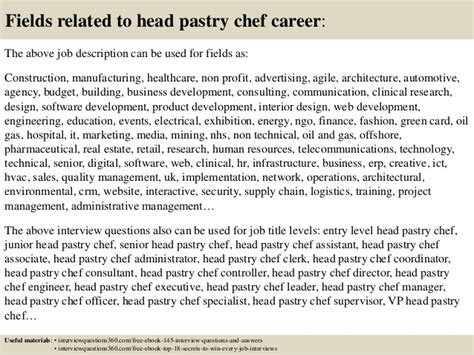 top  head pastry chef interview questions  answers