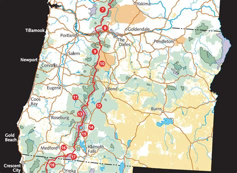 map of oregon pacific crest trail pacific crest national scenic trail map