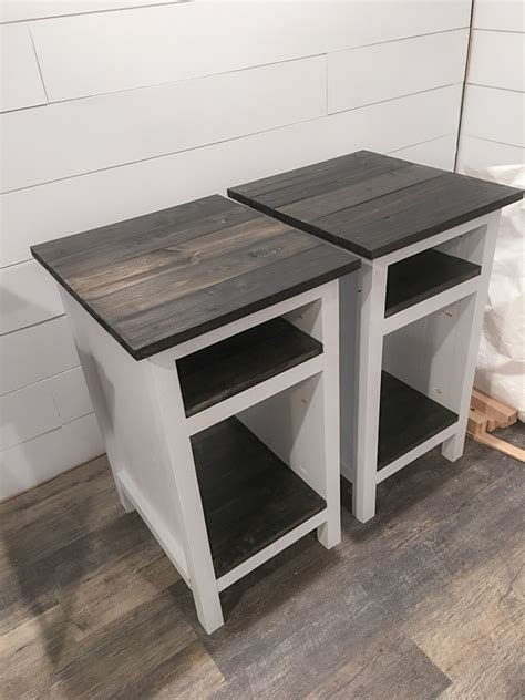 bedside  tables ana white