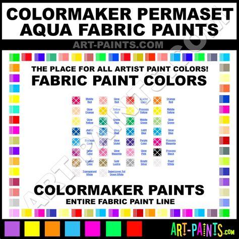 color maker colormaker permaset aqua fabric textile paint colors