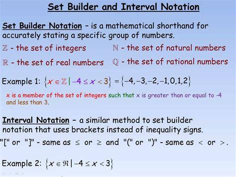 set builder interval notation a plus topper