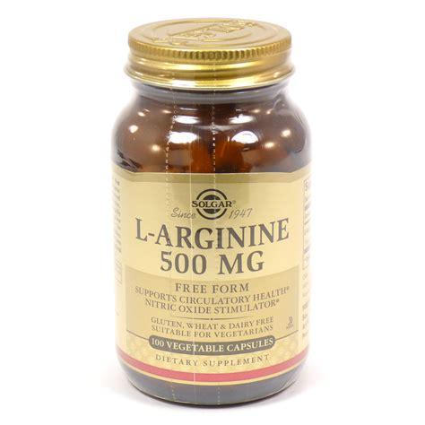 l arginine vegetables l arginine 500 mg vegetable capsules by solgar 100 count