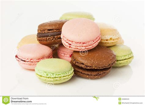 colored cookies gourmet colored macaroon cookies stock photos image