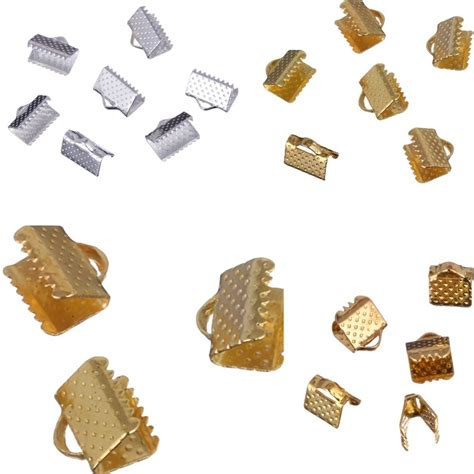cord for jewelry fashion 5 6mm 80pcs lot gold silver cord crimp ends for