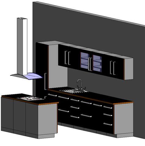 Revit Kitchen Cabinets by Full Kitchen In Autodesk Revit Object Family Bibliocad