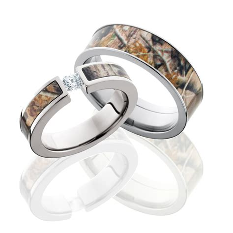 camo engagement and wedding ring sets   Designers tips and
