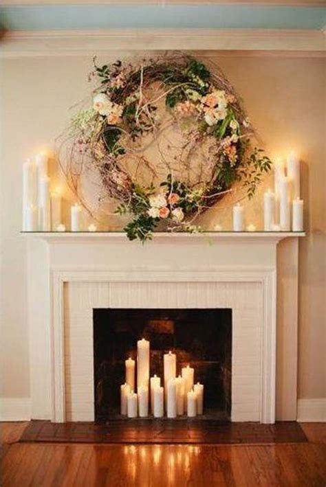 decorating fireplace 20 romantic fireplace candle ideas home design and interior