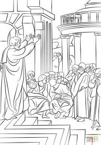 Paul Preaching In Athens Coloring Page Free Printable Apostle Paul Coloring Page