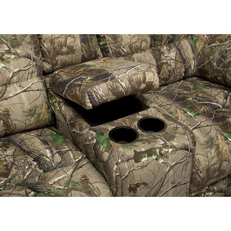 realtree camo sectional camouflage sofa and recliner www energywarden net